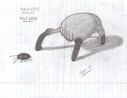Headcrab and Roach by Killer12137