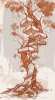 Tree house sketch by vladgheneli