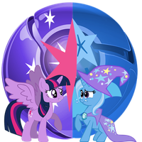 Princess Twilight Sparkle, vs Trixie. by Flutterflyraptor