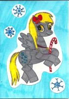 Derpy Holiday Card by Oceanblue-Art