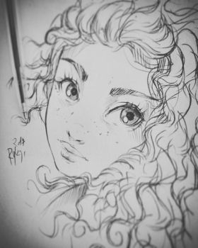 Merida sketch 15min by ryky