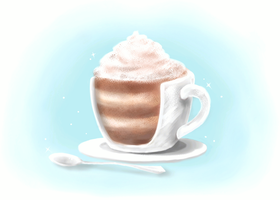 Coffee-(Cup!?)-Cake by DaydreamSugar