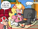 Peach surfs the internet... by BrokenTeapot