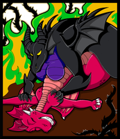 Battle With The Forces of Evil by KaylaTheDragoness