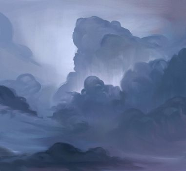 Head in clouds 02 by MarkPanchamArt
