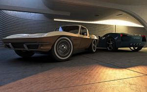 Corvette - Past and present by 3D-Brainx