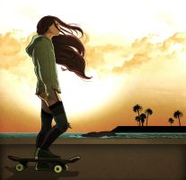 After Dark, skating at sunrise by ScarletLady