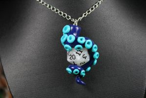 Tentacle Dice Pendant by ShaidySkyDesign