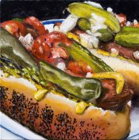 Chicago Style Hot Dog by thecip