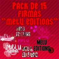 Pack de 15 firmas Melu Editions by CaamiMaslow