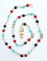 Earth Air Fire Water Bone Goddess Rosary by FaerieForgeDesign