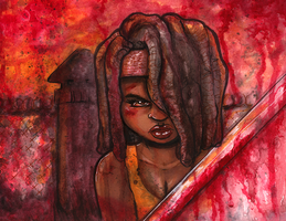 TWD: Michonne by lupienne
