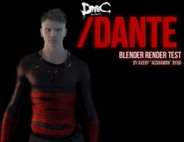 DmC: Dante Blender Test 01 by acdramon