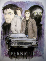 SPN: Watercolour Collage by SilentImagery