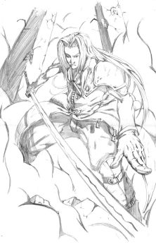 sephiroth pencil practice by jhaider88