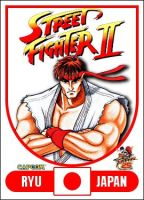 Ryu - Street Fighter 2 Retro Card by MrABBrown