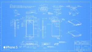 iPhone 5 Blueprint - 2560x1440 by Regivic