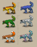 Wolf Adopts (open) by jae-adopts