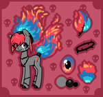 Flaming Barb Wire Pony ADOPT AUCTION - CLOSED by Reporter-Derpy