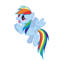 Begging Rainbow Dash Vector by saturtron