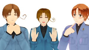 MMD - Who's the real Italy? by Ayumichigolove