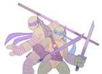 Mutants In Manhattan: Leo and Don by Shellsweet