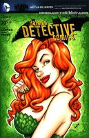 Poison Ivy bust sketch cover by gb2k