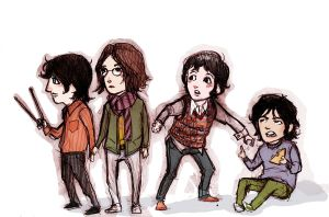 Beatles chibis by lorainesammy