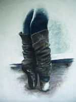 En Pointe Painting by BlueSun-sketches
