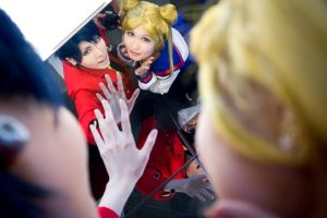 Usagi and Seiya cosplay by Teicosplayer