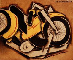 TOMMERVIK MOTORCYCLE PAINTING by TOMMERVIK