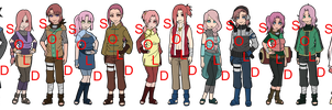 Mixed Pink Haired Naruto OC Adoptables - SOLD OUT by mistressmaxwell