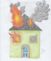 111) Burning house by Magicull-Delesia