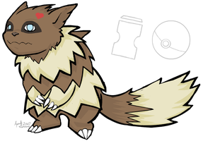 Zigzagoon of the sand by MintyDreams7