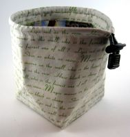 Snow White Text Dice Bag by Isilian