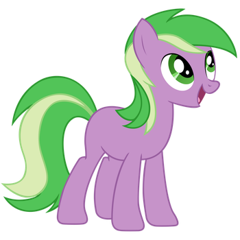 The Green And Purple Spike-Filly by Pappkarton