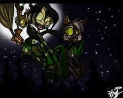 Into The Night -Broom-ride- by Freakly-Show