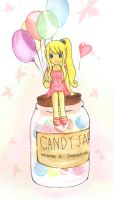 Fairy on the candy jar by ivoryblood