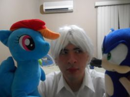 Playing with my plushies. by brandonale