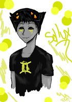 silly doodle of sollux by Kiwii-puff