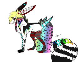 Rainbow Creature CLOSED by HazeAdopts