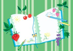 Drawing-book and berries by jkBunny