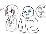 ur not wrong sans by Space-bunnie