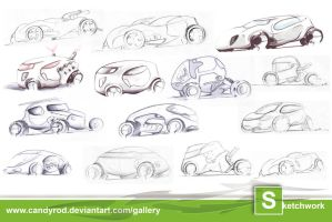 Toy Car sketchwork by candyrod