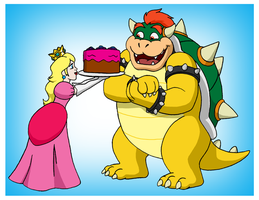 Cake For Bowser by BennytheBeast