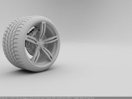 M6 rim, brake, and tire by Pisci