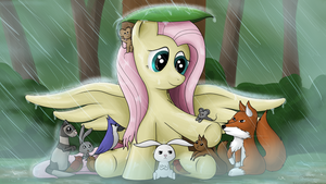In the Rain by NiegelvonWolf