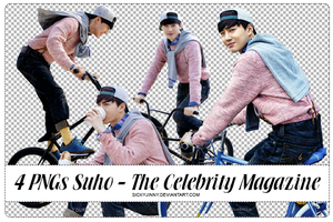 4 PNGs Suho - The Celebrity Magazine by SickyJinny