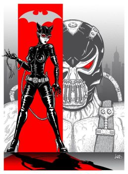 Catwoman/Bane Poster by jonito