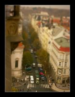 Tilt Shift - Toy train by johnnytourettes